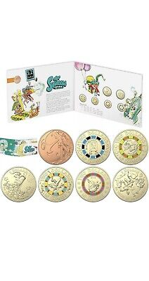 2019 Mr Squiggle 7 Coin Set Four X $2 Two X $1 One X 1 Cent Coins in Folder.