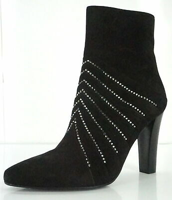 03c3e6e434b Saint Laurent Womens Lily Slayer Ankle Boot Size 36.5 Black Suede Pointy   1