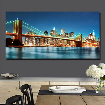 Large art prints Home Decor Canvas Painting Wall Art New York City Panoramic 4