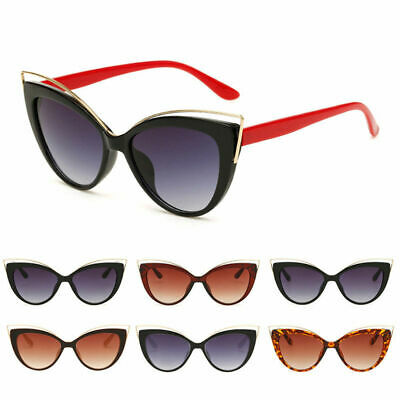 Womens Stylish Vintage Retro Cat Eye Sunglasses Eyewear Shades Eye Glasses New