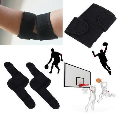 Ajustable Protable Elbow Knee Support Brace Tennis Golfer Strap Wrap Gym SportUQ