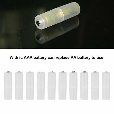 12st AAA to AA Cell Battery Size converter adapter holder box Switcher Tran D1T2