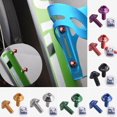 2Pc Aluminum Alloy Bikes Bicycle Water Bottles Cage Bolt Screw Mountain MTB Road