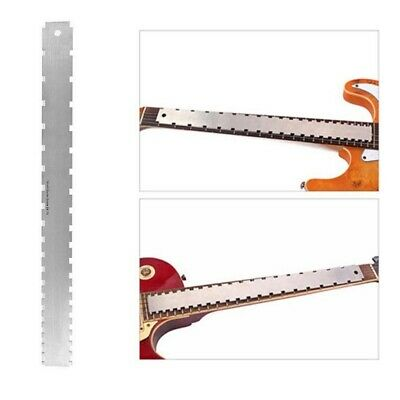 New Double Scale Guitar Notched Neck Straight Edge Luthier Tool Fretboard Ruler