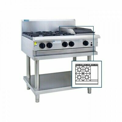 LUUS Professional 4 Burner 300mm Griddle Cooktop Hot Plate Grill BBQ CS-4B3P NG