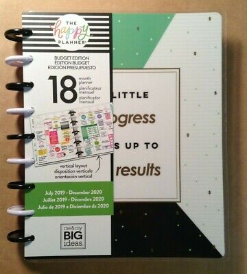 """NEW 2019-2020 me & my BIG Ideas The Happy Planner """"BUDGET MONEY"""" Planner"""