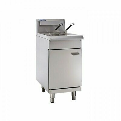 LUUS Professional 2 Basket Single V Pan Gas Commercial Kitchen Fryer FV-45 NG