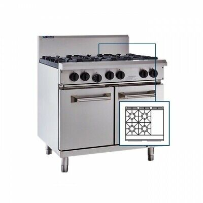 LUUS Professional 4 Burner 300mm Griddle Flat Hot Plate Grill & Oven RS-4B3P LPG