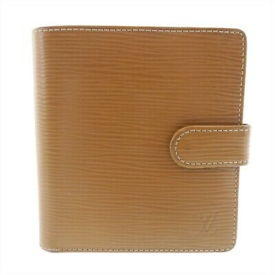 bc3ef357665 Auth LOUIS VUITTON Porte Billets Compact Bifold Light Brown Leather M63551