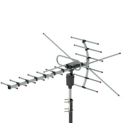 Leadzm 1080P 150Mile Outdoor Amplified HD TV Antenna Install-free 22dB UHF/VHF