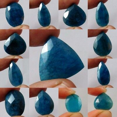 Natural Dyed Faceted Blue Sapphire Gemstone AQ522-576,W439-490,AQ848,18275-280