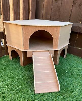 Up Dated Design 2 Storey Corner Play Tunnel/Shelter For Guinea Pig/Small Rabbit