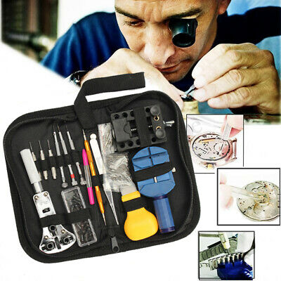 New 114Pcs Watchmaker Watch Repair Tool Kit Back Case Opener Remover Spring Pin