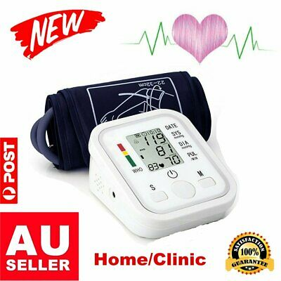 Automatic Digital Arm Style Blood Pressure Monitor Heart Rate Beat Pulse Meter