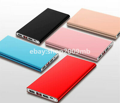 Ultra Thin Portable 20000mAh LED External Battery Charger Power Bank Cell Phone