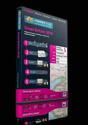 MEMORY-MAP 2016 SD Great Britain OS Landranger 1:50,000 Maps - NEW AND SEALED