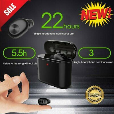 Wireless Bluetooth Kopfhörer In-ear Headset Ohrhörer Earbuds mit 700mAh Ladebox