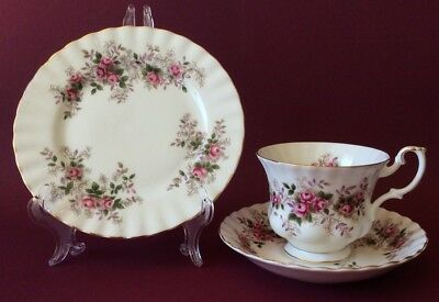 Royal Albert Lavender Rose Trio - Cup, Saucer, Side Plate Excellent Cond.
