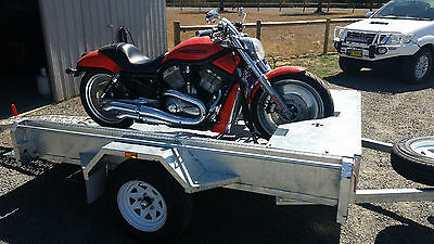 Motorbike Trailer, Dirt Bike, Road Bike, 8x5 Galvanised Trailer, Heavy Duty, NEW