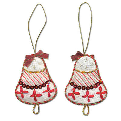 Panna Embroidery Kit - IG-1271 Christmas Decoration. Bell -  beads,ribbons