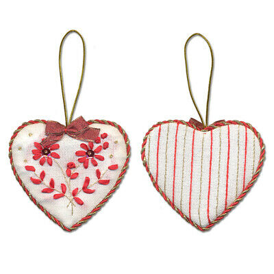 Panna Embroidery Kit - IG-1274 Christmas Decoration. Heart -  beads,ribbons