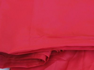 """Red 100% Polyester Silk Like Lining Fabric 44"""" Wide By the Yard"""