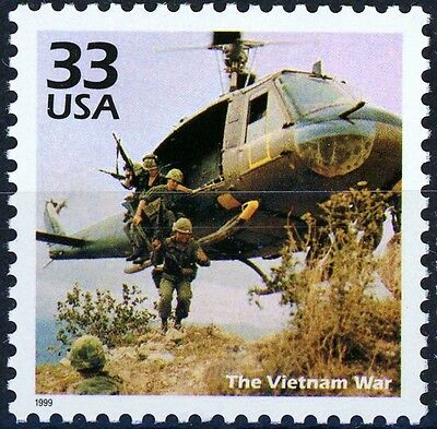 Troops Departing Helicopter Vietnam War Scarce MNH Stamp Scott's 3188G