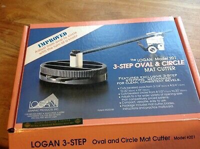 Logan, Model 201 - 3 step Oval & Circle Mat Cutter, Pre owned, - complete