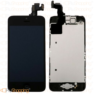 Display Iphone 5C Assemblato Completo Fotocamera Tasto Home Altoparlante Nero