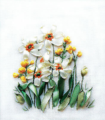 Panna Ribbon Embroidery Kit - C-0941 Daffodils and Buttercups