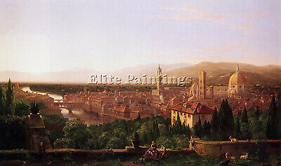 Thomas Cole View Of Florence From San Miniato Artist Painting Reproduction Oil
