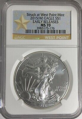 2015-W Silver Eagle Ngc Ms70 Early Releases Star Label - Pristine Condition!