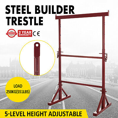 5 x Size No 3 Adjustable Steel Builders Trestle / Trestles Band Stands Scaffold