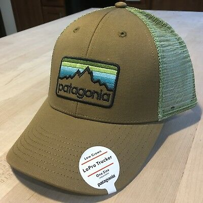 492b67604ab Patagonia Line Logo Badge Lopro Trucker Hat New With Tags - Coriander Brown