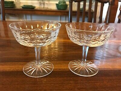 """2 Waterford Crystal, Lismore CHAMPAGNE GLASS, SHERBET DISH 4 1/8"""" (2 Available)"""