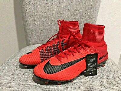 ce6a26b15 New Nike Mercurial Superfly V AG-Pro Soccer Cleats Red Men s Size 12 831955-