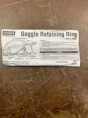 ba50d98fe112 NEW MSA 459458 Goggle Retainers for Cap Style Hard Hat