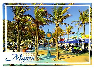 Fort Myers Florida Postcard Palm Trees Tropical Beach Resort Hotels New
