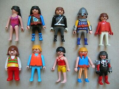 Lot de Playmobil 10 personnages figurine Playmobil n°10