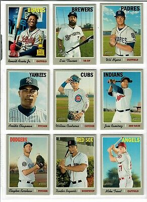 2019 Topps Heritage Baseball Base #200-400 You Pick TUCKER JUDGE TROUT SALE RC +