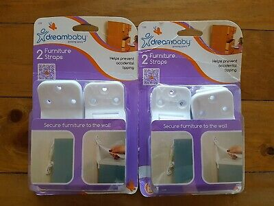 Dreambaby Furniture Straps 2 x 2 Packs - Helps prevent accidental tipping.