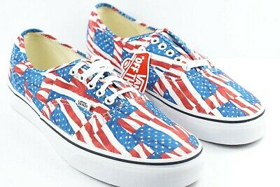 VANS AUTHENTIC - FREE FLAG Mens Shoes (NEW) Sizes 6.5-13 AMERICA USA ... 2131b1abe