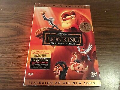 The Lion King (DVD, 2003, 2-Disc Set, Platinum Edition Feat. All-New Song)