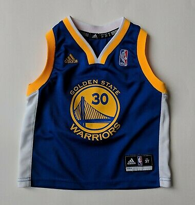 8d9062ad5ae8 Adidas NBA Golden State Warriors Stephen Curry Jersey Youth Size 3T Toddler