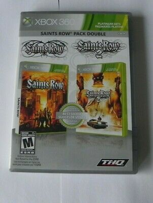 Saints Row: Double Pack (Microsoft Xbox 360, 2010)   FAST SHIPPING     THQ