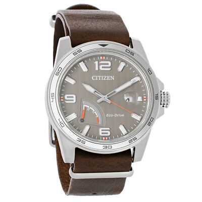 Citizen Eco Drive Mens PRT Power Reserve Stainless Steel Watch AW7039-01H