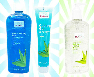 x3 Well at Walgreens Pain Relieving Menthol Aloe Vera Body Cooling After Sun Gel