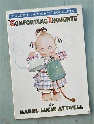 Vintage 1930s 40s Book MABEL LUCIE ATTWELL COMFORTING THOUGHTS original booklet