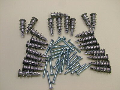 Plasterboard cavity wall driva fixings speed plugs pack of 25 including screws
