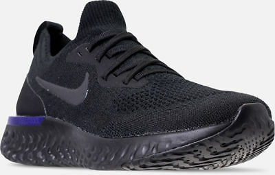 new style 13999 46bb7 Nike Epic React Flyknit Running Shoes Black / Racer Blue Sz 12 AQ0067 004